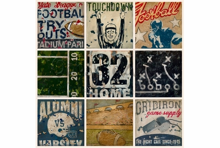 Super Bowl Bound with Cream Background Canvas Wall Art