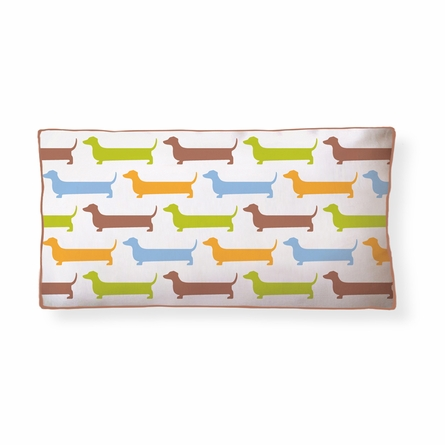 Super Dachshund Long Reversible Throw Pillow