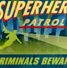 Superhero Patrol Canvas Wall Art