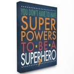Superhero Slogan Typography Canvas Wall Art