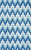 Surge Geometric Chevron Blue Rug