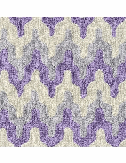 Surge Geometric Chevron Purple Rug