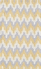 Surge Geometric Chevron Yellow Rug