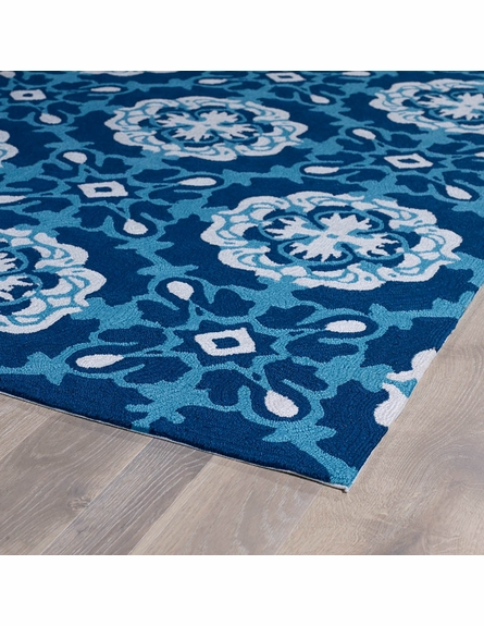 Suzani Matira Rug in Blue