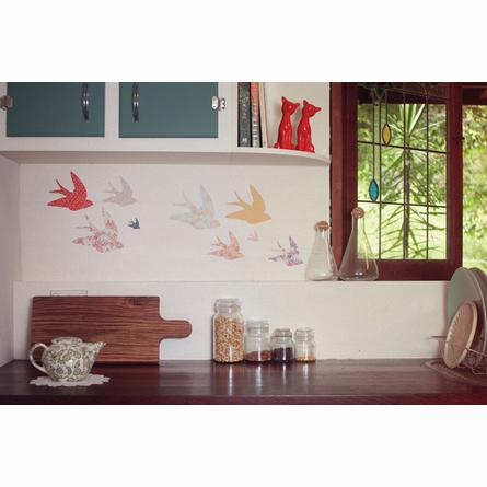Swallows Fabric Wall Decals