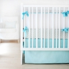 Sweet and Simple Crib Bedding Set in Aqua