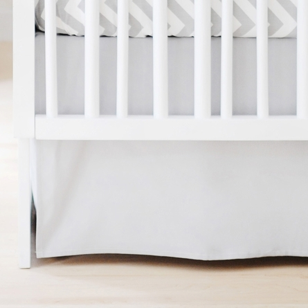 Sweet and Simple Crib Bedding Set in Gray