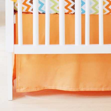 Sweet and Simple Crib Bedding Set in Orange