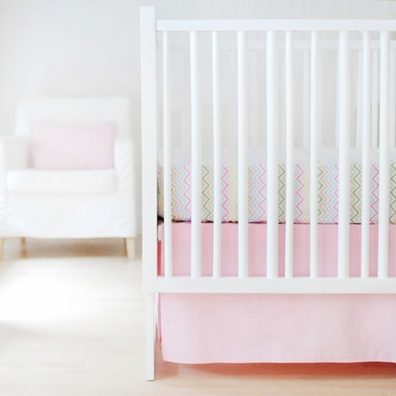 Sweet and Simple Crib Bedding Set in Pink