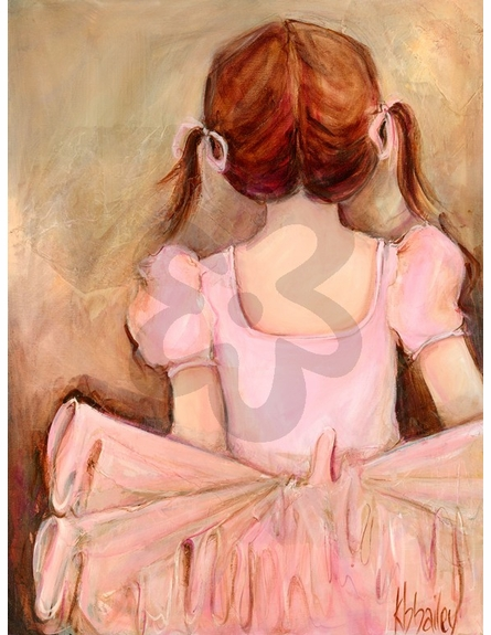 Sweet Ballerina - Brunette Canvas Wall Art