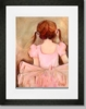 Sweet Ballerina - Brunette Framed Art Print