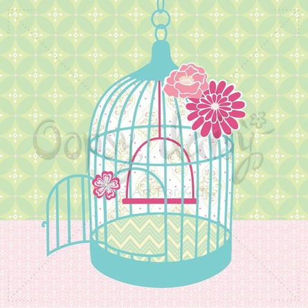 Sweet Birdcage Canvas Wall Art