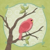 Sweet Birdie in Pink Canvas Wall Art