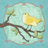 Sweet Birdie in Yellow Canvas Wall Art