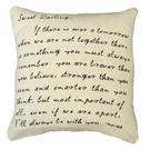 Sweet Darling If There Is Ever Linen Pillow