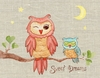 Sweet Dreams Baby Owl Canvas Reproduction