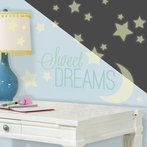 Sweet Dreams Glow in the Dark Wall Decals