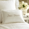 Sweet Dreams Natural Embroidered Boudoir Pillow