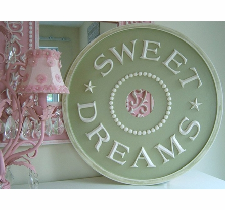 Sweet Dreams Round Chandelier Medallion