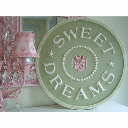 Sweet Dreams Round Wall Clock