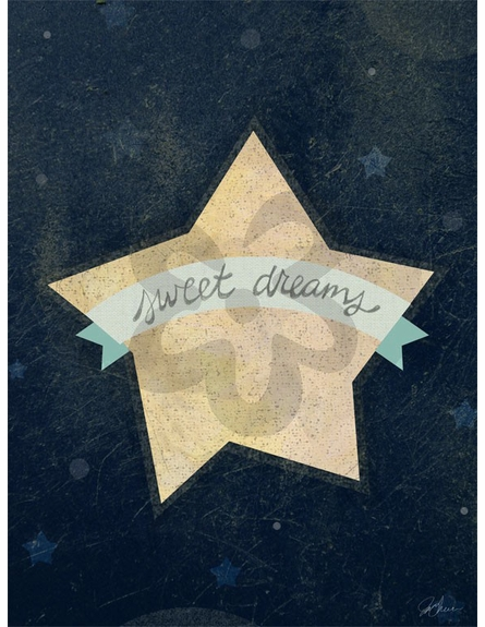 Sweet Dreams Star Blue Canvas Reproduction