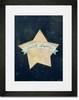 Sweet Dreams Star Blue Framed Art Print