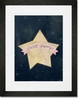Sweet Dreams Star Pink Framed Art Print