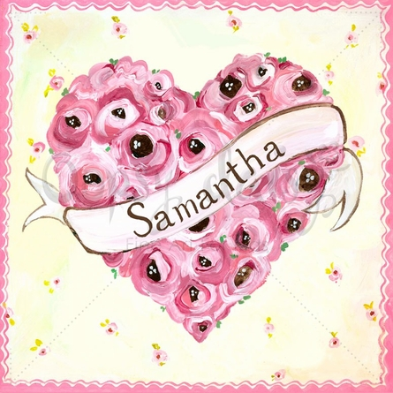 Sweet Heart Roses Canvas Wall Art