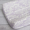 Sweet Lavender Lace Damask Changing Pad Cover