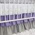 Sweet Lavender Lace Damask Crib Bedding Set