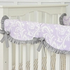 Sweet Lavender Lace Damask Crib Rail Cover