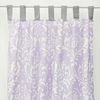 Sweet Lavender Lace Damask Window Panels