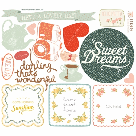Sweet Nothings Fabric Wall Decals