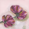 Sweet Pea Magenta Canvas Reproduction