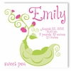 Sweet Pea Personalized Canvas Birth Announcement