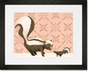 Sweet Skunks Framed Art Print
