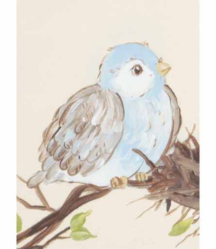 Sweet Songbird Custom Name Canvas Reproduction