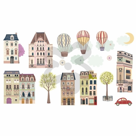 Sweet Street at Dusk Peel & Place Wall Stickers