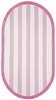 Sweet Treats Striped Rug in Bright Pink