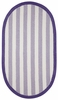Sweet Treats Striped Rug in Deep Purple