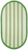 Sweet Treats Striped Rug in Lime