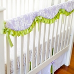 Sweet Violet Crib Rail Cover