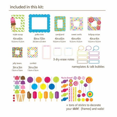 Sweet Wall Sticker Frame Set