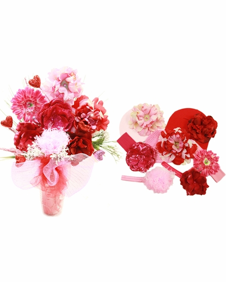 Sweetheart Budding Beauty Flower Hat Bouquet
