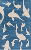 Swimming Sharks Rug in Cobalt