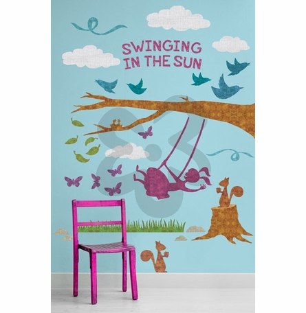 Swinging in the Sun Peel & Place Wall Stickers