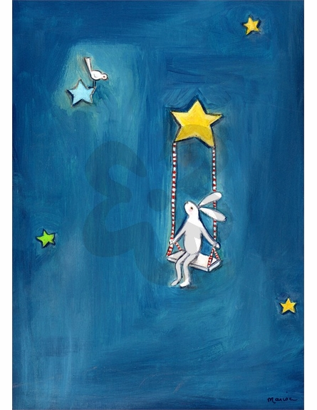 Swinging on a Star Canvas Wall Art