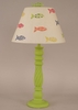 Swirl Table Lamp in Key Lime