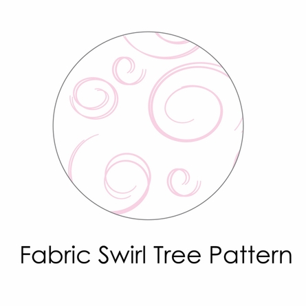 Swirl Tree Fabric Wall Decal