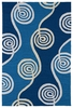 Swirls Indoor/Outdoor Rug in Blue
